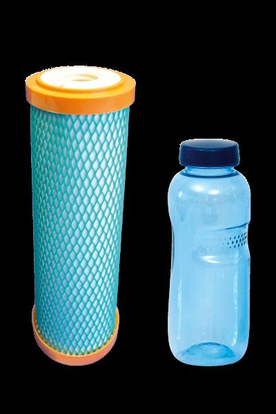 carbonit® Filtereinsatz IFP Ultra mit 0,5 L Trinkflasche aus Tritan™