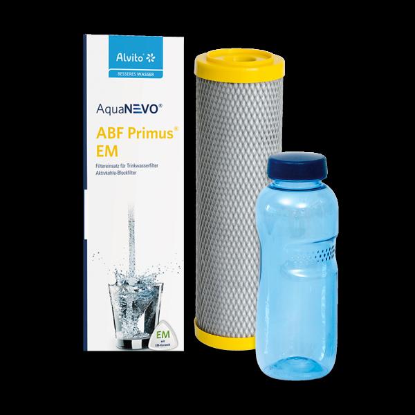 Alvito® Filtereinsatz ABF Primus EM mit 0,5 L Trinkflasche aus Tritan™