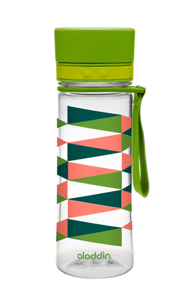 AVEO aladdin Trinkflasche 0,35 Liter, Design Lindgrün mit Grafik