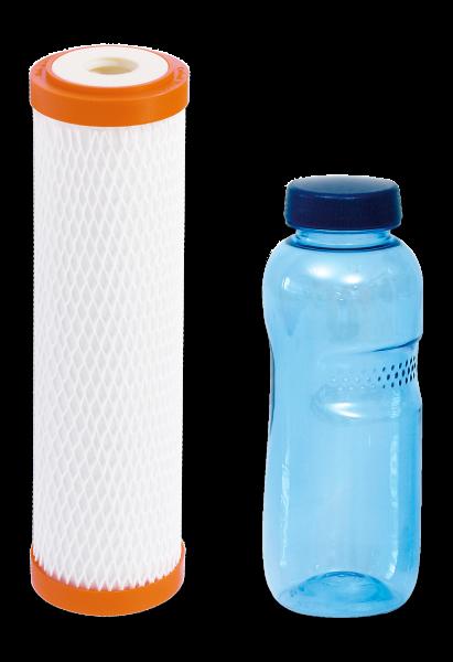 carbonit® Filtereinsatz IFP Puro mit 0,5 L Trinkflasche aus Tritan™