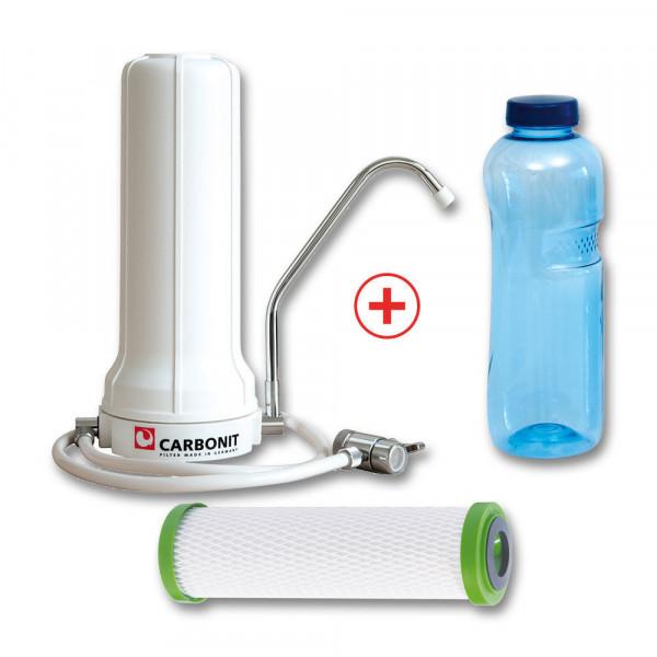 Auftischfilter SANUNO Classic mit Filtereinsatz NFP Premium und Trinkflasche 1 L