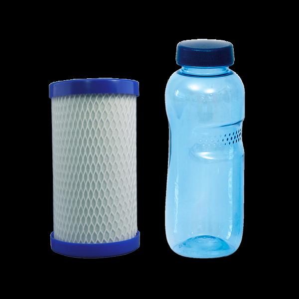 carbonit® Filtereinsatz CB-6 mit 0,5 L Trinkflasche aus Tritan™