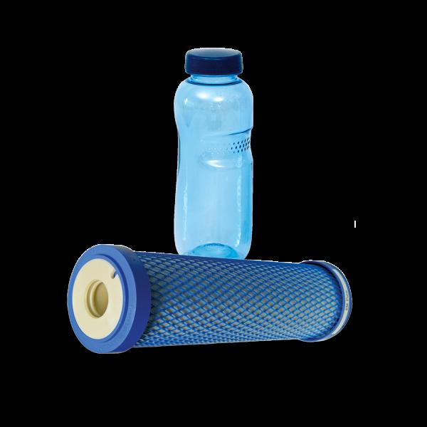 carbonit® Filtereinsatz EM Puro mit 0,5 L Trinkflasche aus Tritan™
