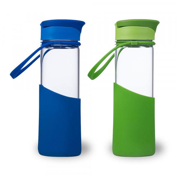 Trinkflaschen AVEO miGo® in den Farben blau und grün