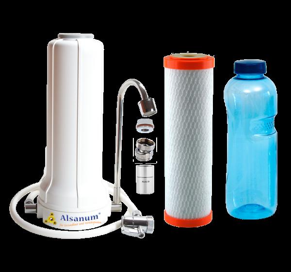 Auftischfilter AquaPURUS Pro Vita mit Filtereinsatz, Wirbler, Kugelgelenk und Adapter