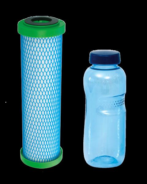 carbonit® Filtereinsatz EM Premium 5 mit 0,5 L Trinkflasche aus Tritan™