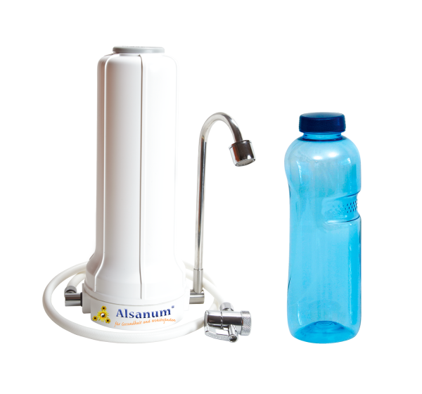 Alsanum® AquaPURUS Pro Auftischfilter mit Tritan™ Trinkflasche 1 Liter